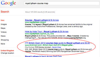 case study google search results for royal lytham course map