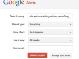 set up google alert to tell you when your web page is listed