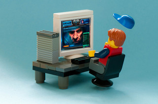 lego man & computer screen