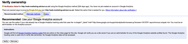 upload file verification method google webmaster tools verification failed