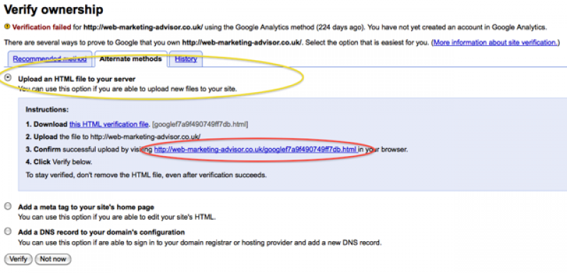 upload file verification method google webmaster tools check file upload