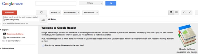 what should i tweet about - google reader find blogs