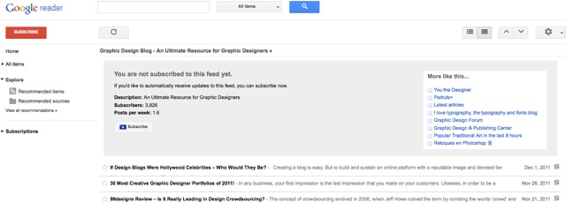 what should i tweet about - subscribing to relevant blogs with google reader