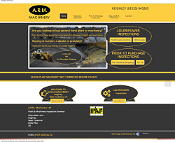 A.R.M. Machinery website homepage screenshot
